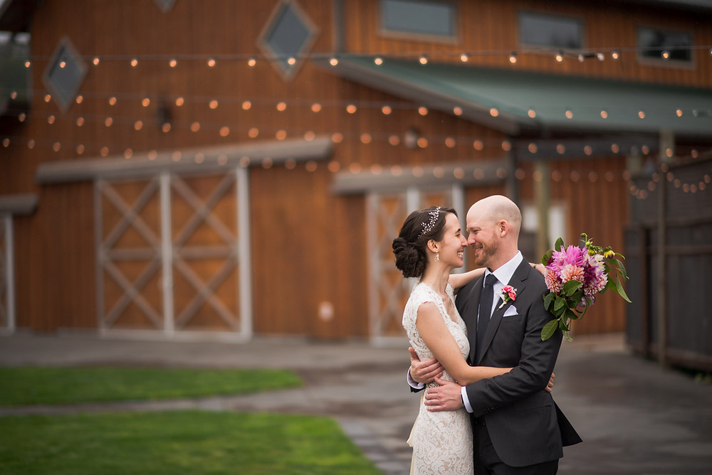 How to Choose Wedding Vendors without Price Shopping | Barn Wedding Bride + Groom Portrait | Snohomish Wedding Coordinator