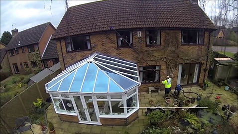 Exeter Gutter Cleaning Over Conservatory
