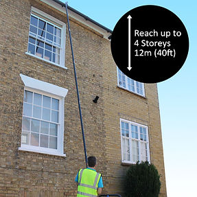 high level gutter cleaning in sidmouth