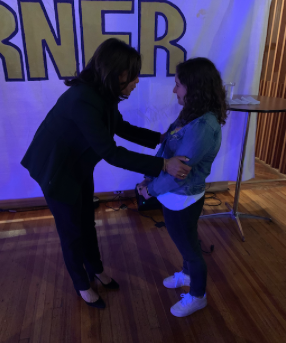 Image: Senator Harris thanking me and telling me to keep fighting for justice (one day after she suspended her campaign for president) in Des Moines, IA - December 4, 2019