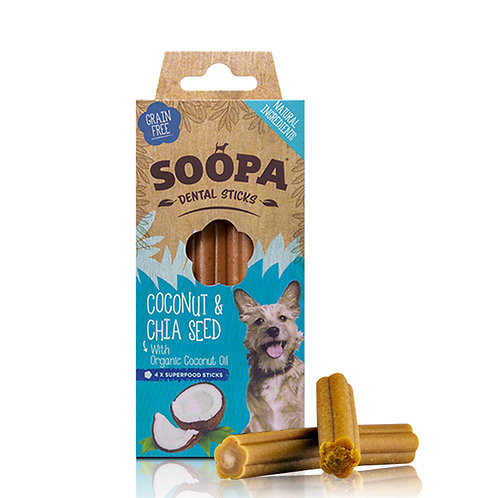 Soopa Dental Sticks - Coconut & Chia Seed
