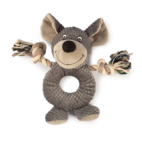Ancol Rope Ring Teddy