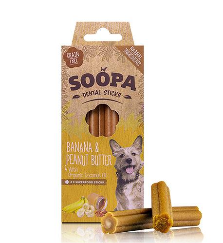 Soopa Dental Sticks - Banana & Peanut Butter