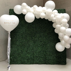 Hedge Wall Hire with Balloon feature