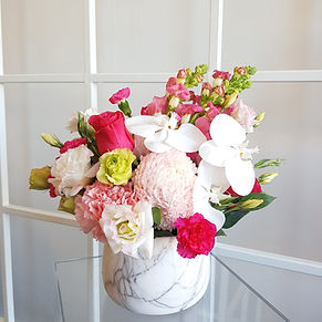 Marble Vase - pink pop
