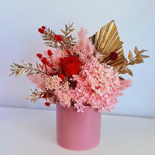 Everlasting Flowers - Rose Ceramic Vase