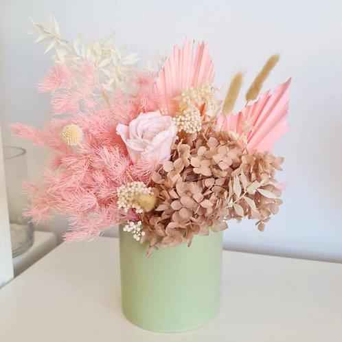 Everlasting Flowers - Sage Ceramic Vase