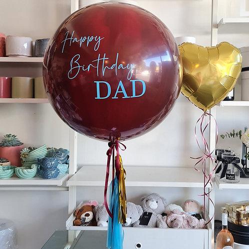 Sparkling Burgundy Jumbo Balloon