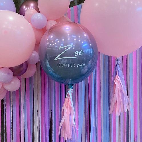 Ombre Metallic Orbz Balloon