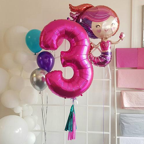 Supersize Foil Number - Hot Pink