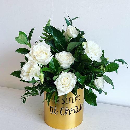 Personalised Gold Vase