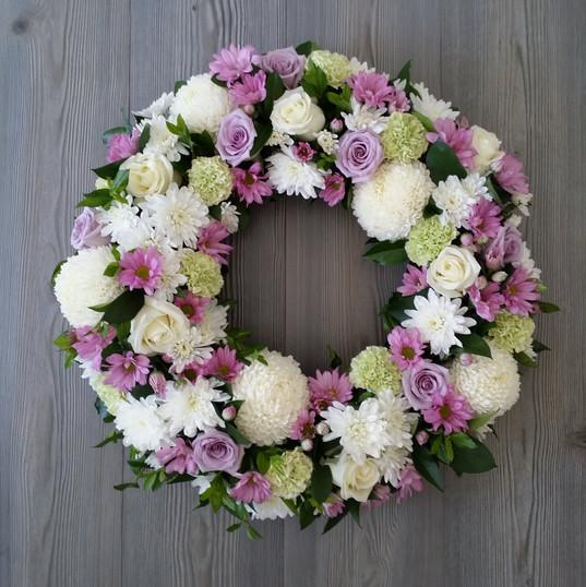 Purple Love Funeral Wreath