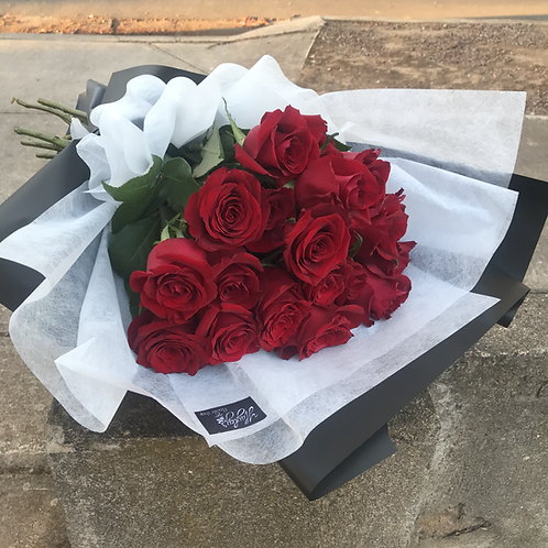 24 Long Stem Roses Bouquet