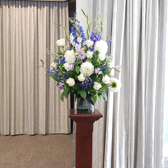 Sympathy Flowers - purple & white .jpg