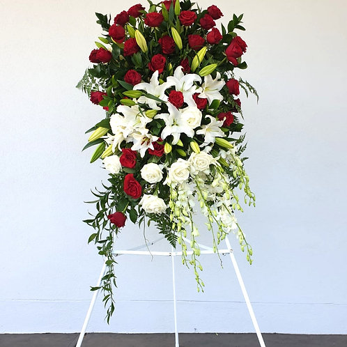 Funeral Spray - Roses & Orchids