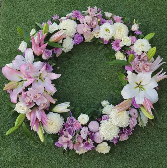 Adelaide Funeral Wreath - Pink hues.jpg