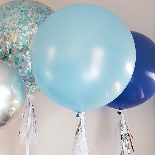 Pearl Light Blue Jumbo Balloon