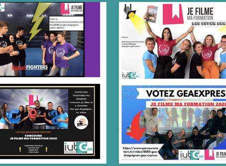 """Concours """"Je filme ma formation"""" : 4 équipes de l'IUT GEA Draguignan en sélection officielle"""