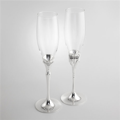 Mr. & Mrs. Toasting Flutes