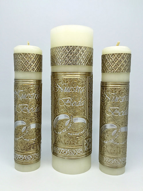 Unity Repujado Candle Forever Rings