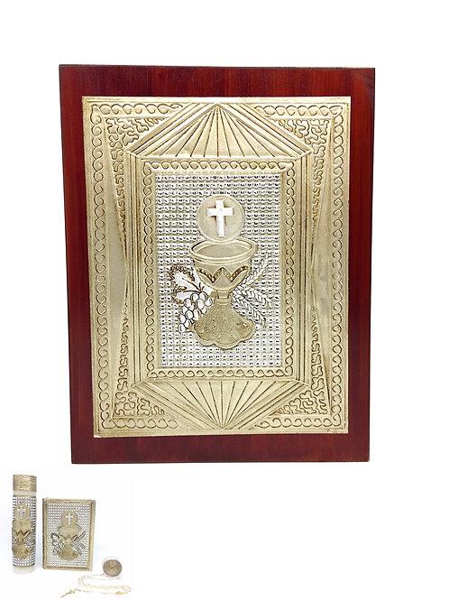 Repujado Communion Set (Chalice Rhinestone)