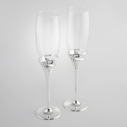 Ring Toasting Flutes