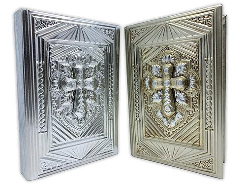 Repujado Bible rhinestone cross 3D  102