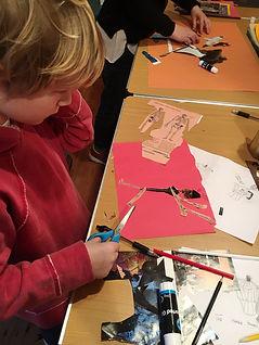 young boy art classe, norwich art course, drawing dreams workshop,