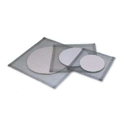 Tela de arame com refratário (disco de cerâmica no centro)