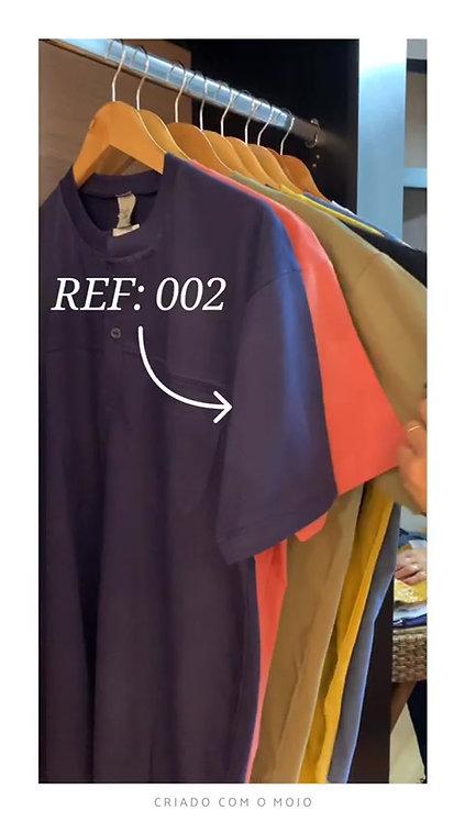 002 - Camisa com botões 100% algodão