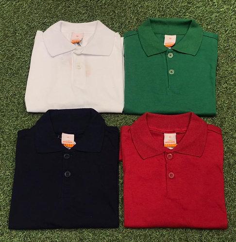 004 - Camisa polo básica de algodão