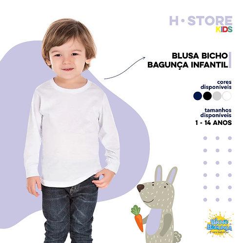 004 - Blusa Bicho Bagunça Infantil
