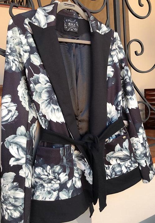 008 - Blazer estampado com faixa elastano
