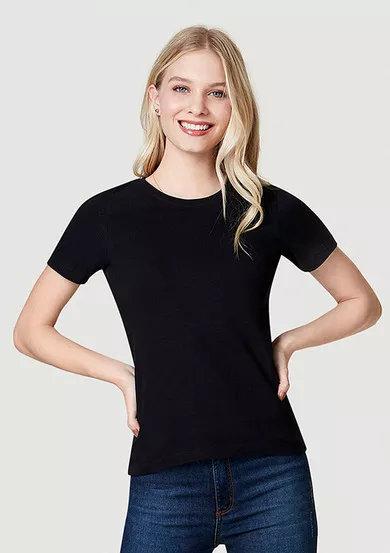 012 - Camiseta básica confeccionada em algodão e elastano