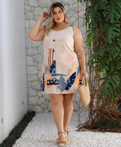 112 - Vestido tecido Plus size