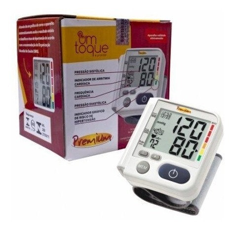 010 - Aparelho de pressão de pulso Premium