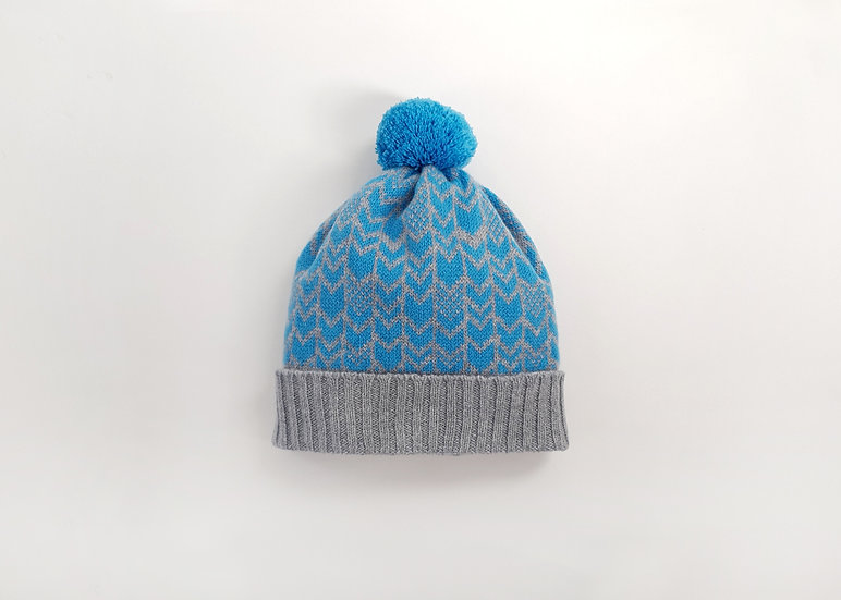 Lambswool Knitted Pom Pom Beanie Hat