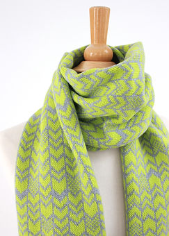 Green & Grey Chevron Scarf.jpg