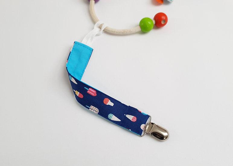 Dummy/Toy Clip,  Ice Cream Print