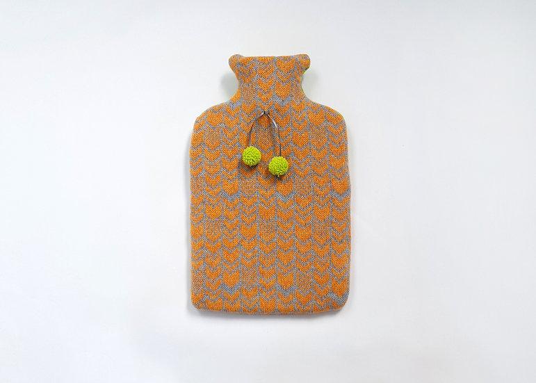 Honey Bee & Grey 2L Lambswool Hot Water Bottle Cover