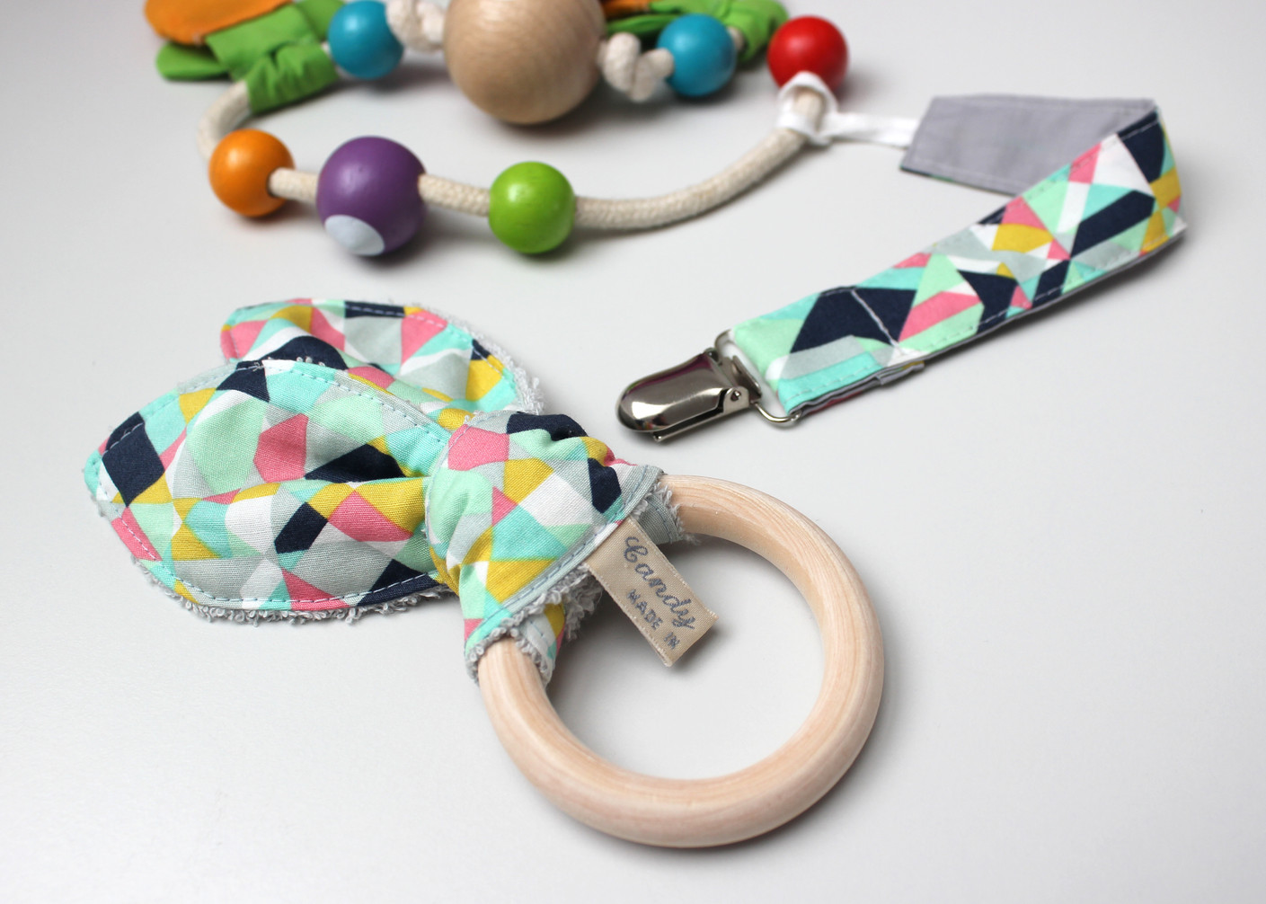 Teether and Dummy Clip Set