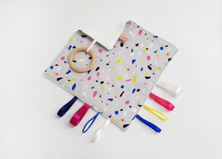 Baby Comforter Square,  Terazzo Print