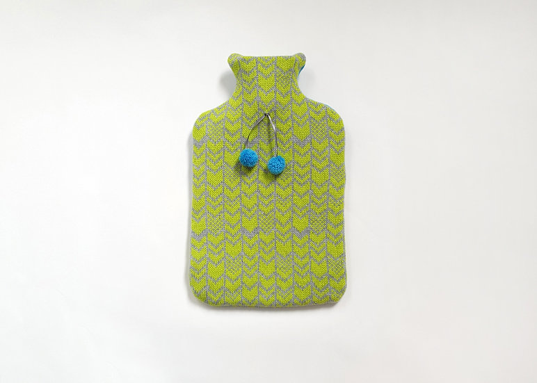 Pistachio & Grey 2L Lambswool Hot Water Bottle Cover