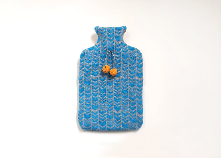 Gulf Stream & Grey 2L Lambswool Hot Water Bottle Cover
