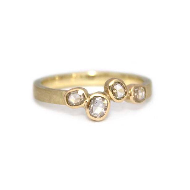 gouden ring met vier vintage diamanten_l