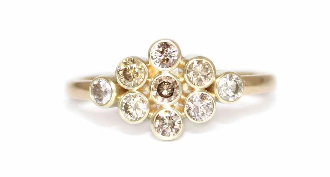Diamant Cluster ring | Fairtrade Trouwri