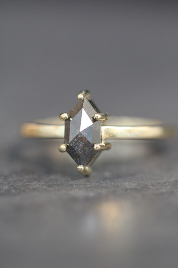 Zwarte diamant ring _ Verlovingsring _ A