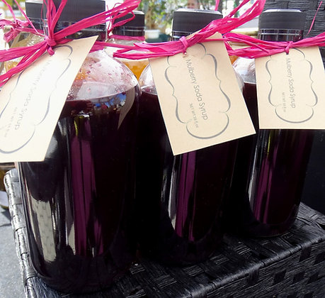 Mulberry Soda Syrup 16oz