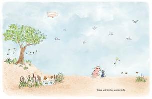 "Illustration sample for ""Almost Flying"""