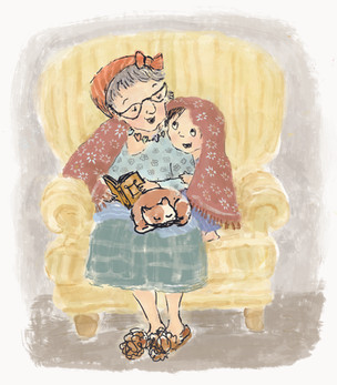"Illustration sample for ""Jenny's Chair"""